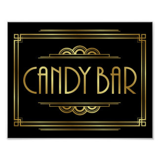 Gatsby Art Deco CANDY BAR Sign Print