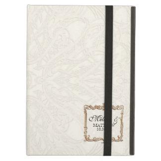 Gatsby Art Deco Nouveau Lace Faux Gold Tulip iPad Air Case