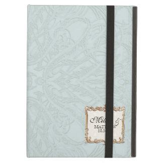 Gatsby Art Deco Nouveau Lace Faux Gold Tulip iPad Air Cover