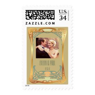 ~ Gatsby del art déco del vintage inspirado Sellos Postales