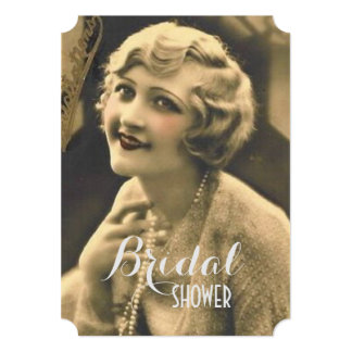 gatsby girl bachelorette vintage bridal shower card