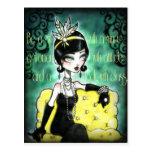 Gatsby, hembra, rugido 20s tarjetas postales