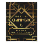 Gatsby inspired Time to Drink Champagne Poster