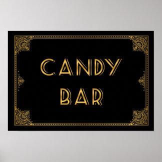 Gatsby inspired wedding sign CANDY BAR