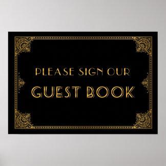 Gatsby inspiró el libro de visitas de la muestra póster