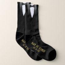 Gatsby Man Of Honor Black Tuxedo Wedding Socks