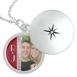 Gatsby Monogram Silver Wedding Necklace