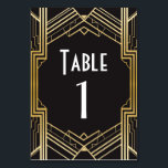 """Gatsby Table Number 1920&#39;s Roaring 20s Wedding<br><div class=""""desc"""">Gatsby Table Numbers for your next event,  change each number to suit your event size Matching items available on my store!</div>"""