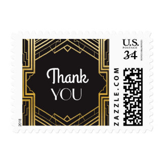 Gatsby Thank You 1920's Wedding Stamps Postage