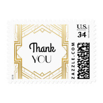Gatsby Thank You Gold Wedding Stamps Postage