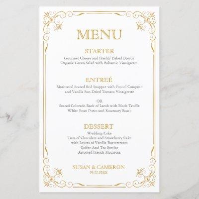 Gatsby Vintage Dinner Menu   Editable Color