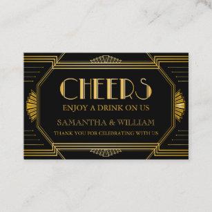 Ticket business cards zazzle gatsby wedding free drink ticket custom color colourmoves