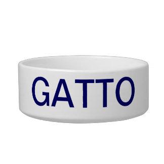 """GATTO"" CAT IN ""ITALIAN"" CAT BOWL"