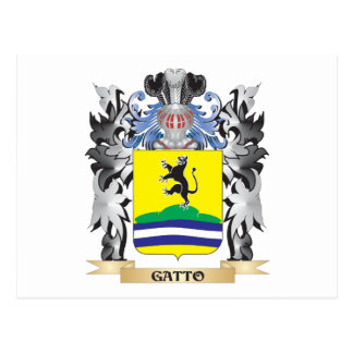 Gatto Coat of Arms - Family Crest Postcard