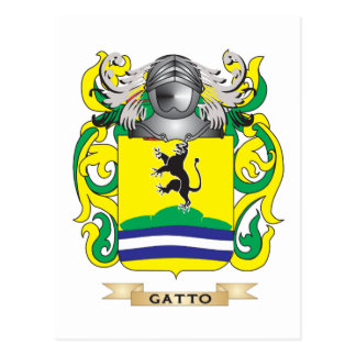 Gatto Coat of Arms Postcard