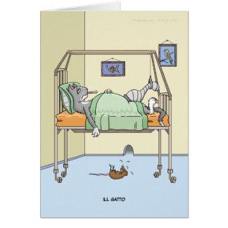 Gatto enfermo consigue la tarjeta bien
