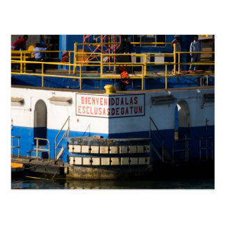 Gatun Locks 3 Postcard
