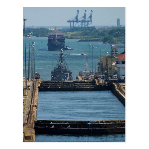 Gatun Locks 8 Postcard