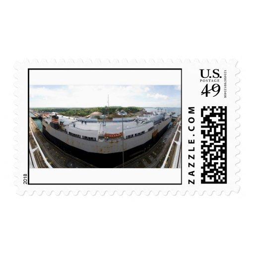 Gatun Locks 9 Postage