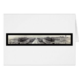 Gatun Locks Panama Photo 1913 Greeting Card