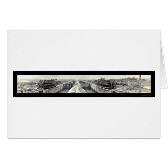 Gatun Locks Panama Photo 1913 Card
