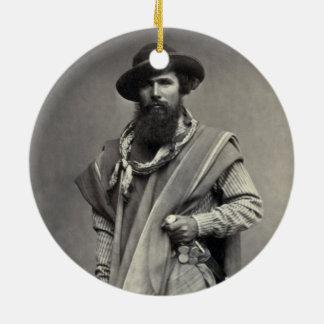 Gaucho of the Argentine Republic 1868 Ceramic Ornament