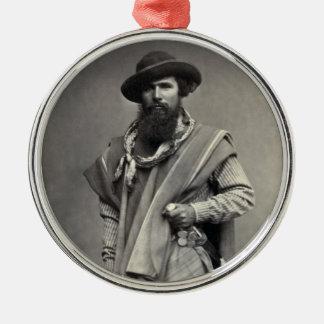 Gaucho of the Argentine Republic 1868 Metal Ornament