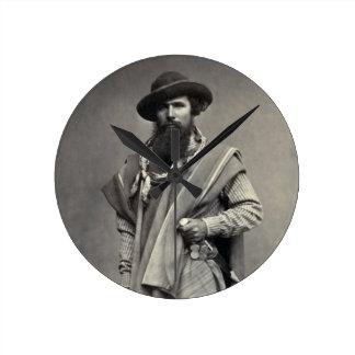 Gaucho of the Argentine Republic 1868 Round Wall Clocks