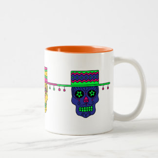 Gaucho Sugar Skull Two-Tone Coffee Mug