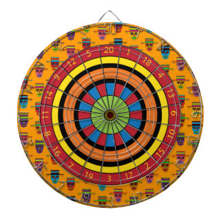 Gaucho Sugar Skulls Dartboard With Darts