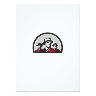 Gauchos Half Circle Retro Card