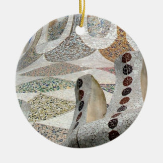 Gaudi Castle Double-Sided Ceramic Round Christmas Ornament