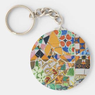 Gaudi Ceramic Tile Keychains