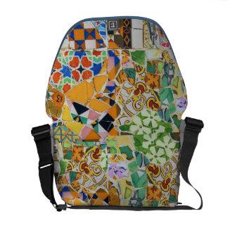 Gaudi Ceramic Tile (tencadis) Fractals Version 2 Courier Bag