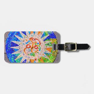 Gaudi Detail Blue Travel Bag Tag