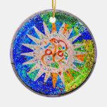 Gaudi Detail Blue Ornaments