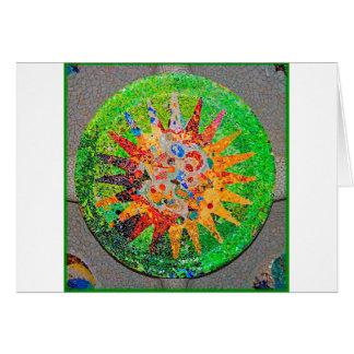 Gaudi Detail Green Greeting Card