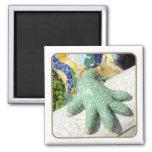 Gaudi Lizard Hand Tiles Magnets