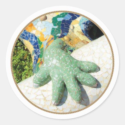 Gaudi Lizard Hand Tiles Stickers