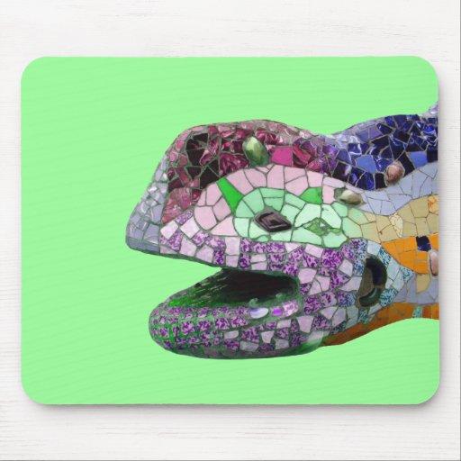 Gaudi Lizard Head Mosaics Mouse Pad