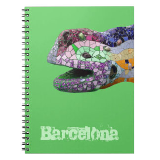 Gaudi Lizard Head Mosaics Notebook