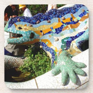 Gaudi Lizard Mosaics Beverage Coaster