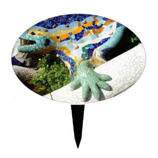 Gaudi Lizard Mosaics Cake Topper