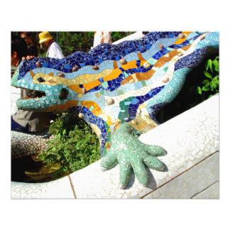Gaudi Lizard Mosaics Flyer