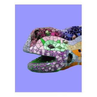 Gaudi Lizard Tiles Post Cards
