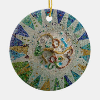 Gaudi Mosaic Ceramic Ornament