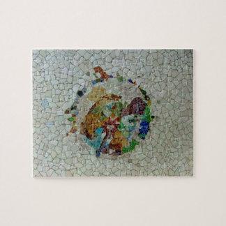 Gaudi Mosaic Flower Jigsaw Puzzle