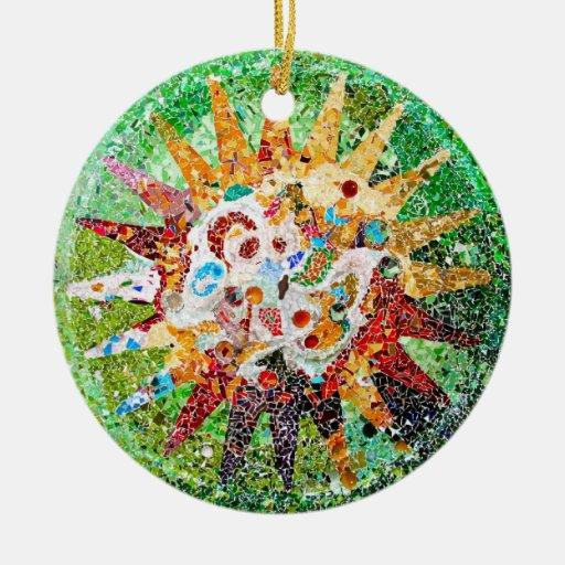 Gaudi Mosaic Ornament