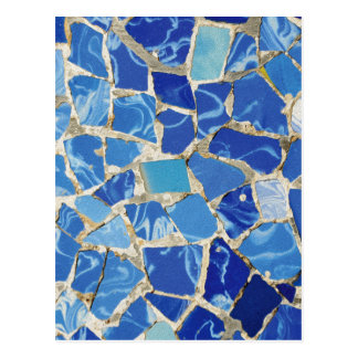 Gaudi Mosaics With an Oil Touch Postcard