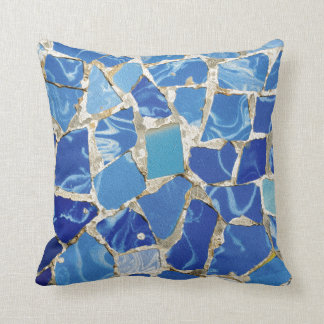 Gaudi Mosaics With an Oil Touch Throw Pillow